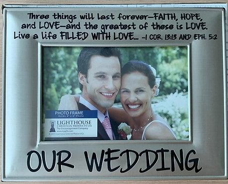 PHOTO FRAME OUR WEDDING 17066 18 CM X 22 CM