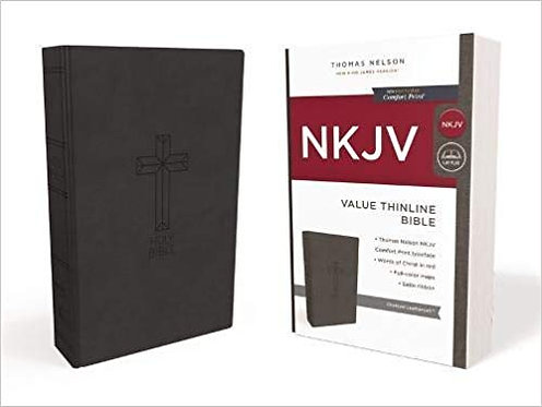 NKJV Value Thinline Black Imitation 422