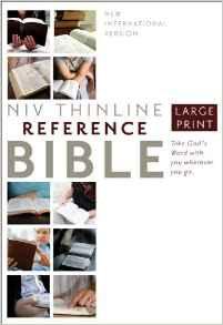 NIV Thinline Bible Large Font Hardcover 386