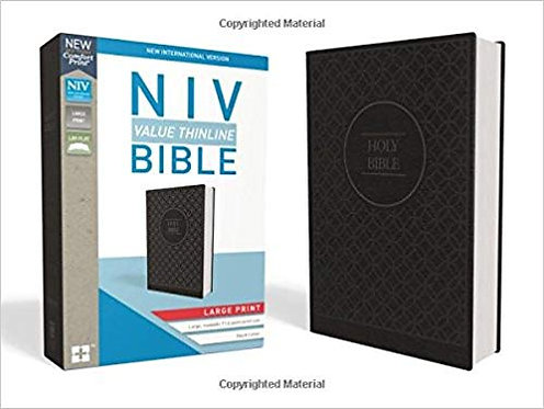 NIV Value Thinline 518 Large font Black