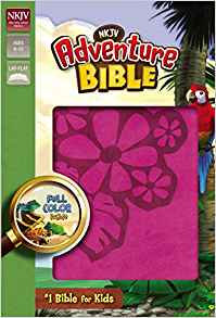 CHILD BIBLE NKJV Adventure 515 Pink Italian Age 8-12