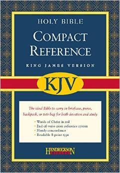 KJV Large Print Compact Reference Black 098