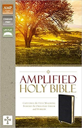 BIBLE AMPLIFIED 926 Black Bonded 8.5 PT
