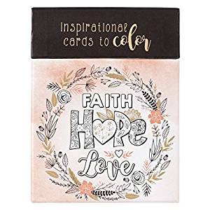 ADULT COLORING FAITH HOPE LOVE