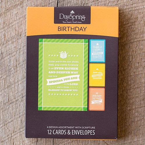 Card Box Birthday Today 45180 12 Cards 4 Designs