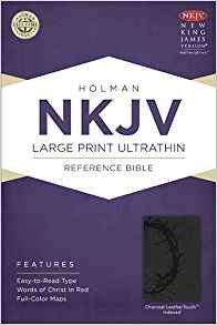 NKJV Ultrathin 903 Large Index Charcoal Leathertouch