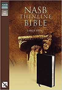BIBLE NASB THINLINE LARGE Font 977 Black Bonded 10.1 PT