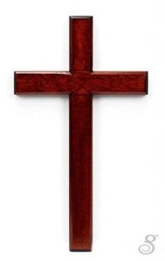 Cross Wood 30 cm Solid Mahogany