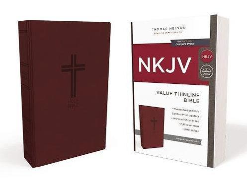 NKJV Value Thinline Burgundy 446