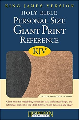 KJV PERSONAL GIANT REF 460 BLACK TAN TWO TONE FLEXISOFT 11.25 PT RL