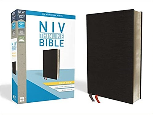 BIBLE NIV THINLINE GIANT INDEX 600 BLACK BONDED 13 PT RL