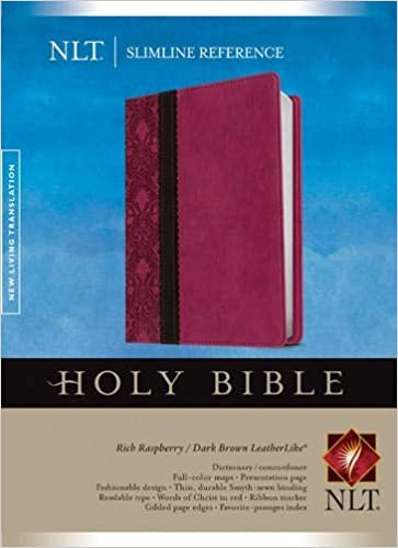 BIBLE NLT SLIMLINE REF PINK LEATHERLIKE RL 8 PT