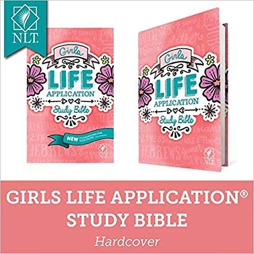 BIBLE NLT GIRLS LASB STUDY HC AGE 9 - 13