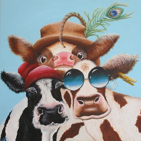 Cow Family Portrait