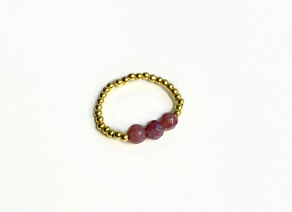 bague DRAGEE rose agate