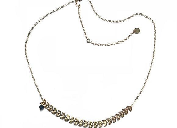 collier noir agate CATHERINE