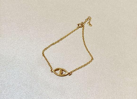 bracelet oeil en plaqué or AMELIE