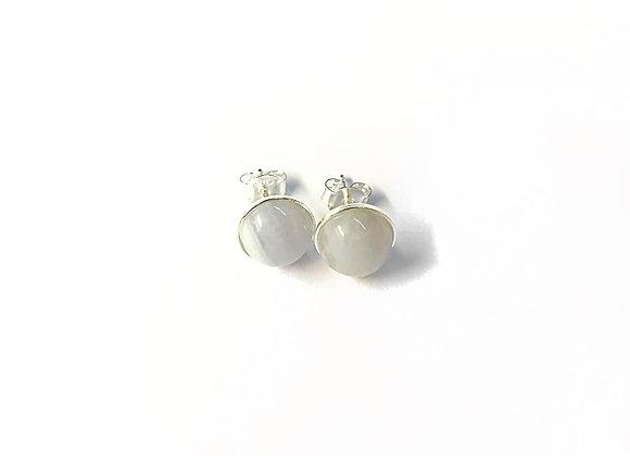 earrings MARIE blue agate