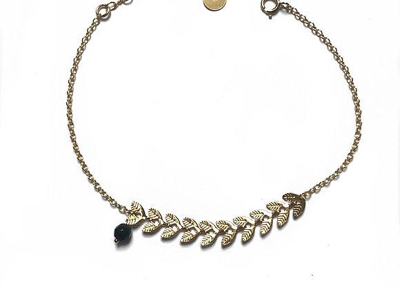bracelet agate noire CATHERINE