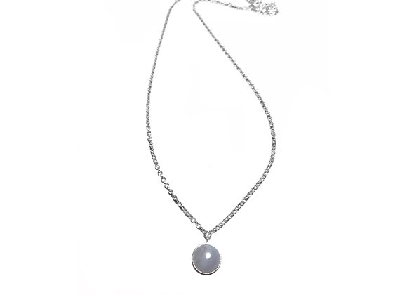necklace MARIE agate blue lace