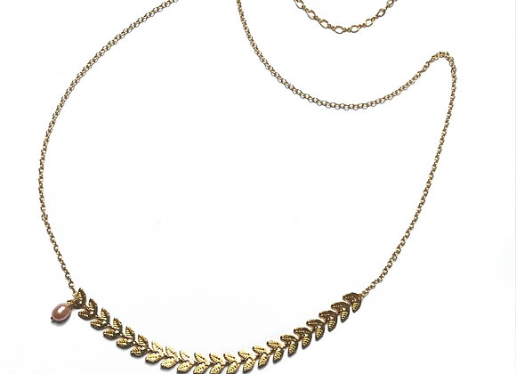 collier perle blanche CATHERINE