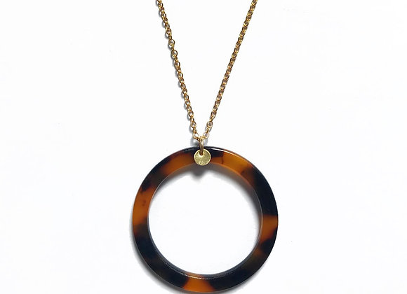 necklace short gold filled 14k 14 carats original leopard tendance