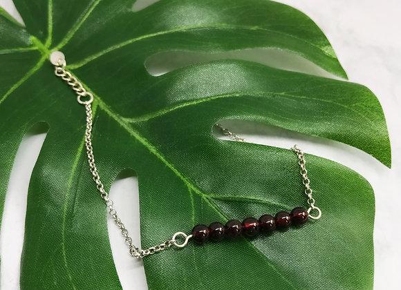 bracelet sterling silver garnet creativ stone jewelry woman women gift lovebracelet sterling silver amethyst semi pre