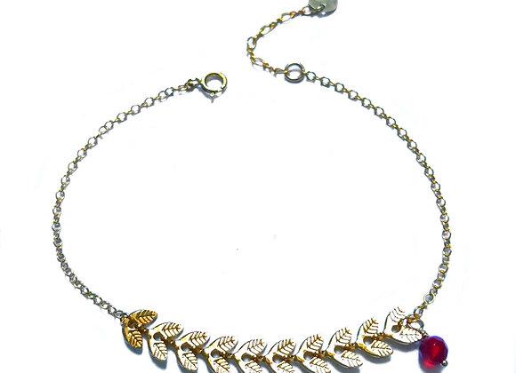 bracelet grenat CATHERINE