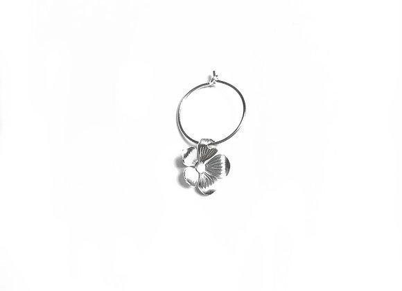 Créole mini fleur en argent