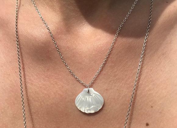 collier coquillage blanc SOPHIE