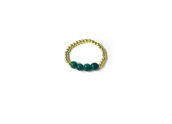 bague DRAGEE gold malachite