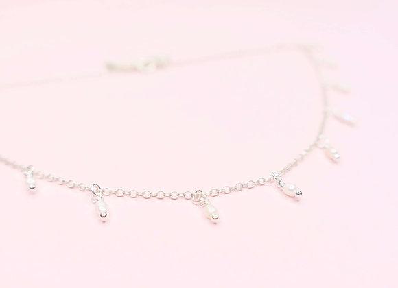 collier de perle argent 925