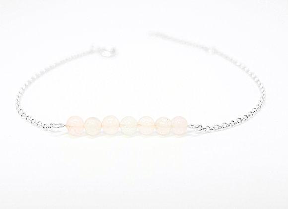 bracelet sterling silver pink quartz love lover gemstone jewelry woman women gift love