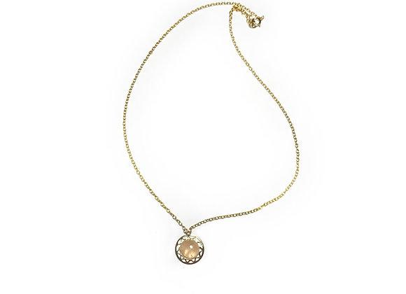 necklace LILI pink quartz