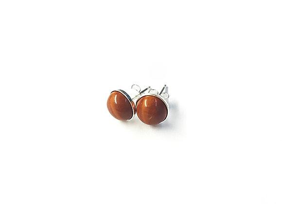 boucles d'oreilles jaspe rouge MARIE
