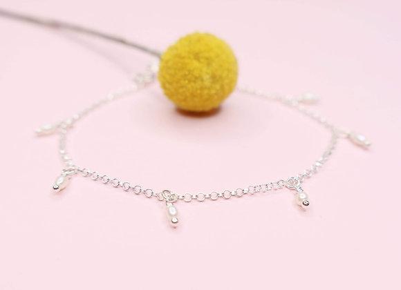 bracelet perle d'eau douce argent