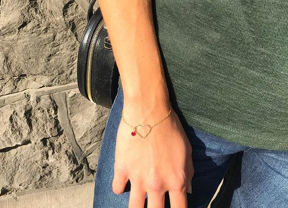 woman hand heart garnet gold filled gift ideal for st valentin