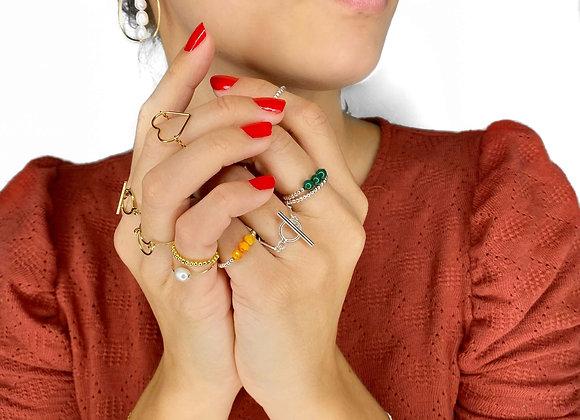bracelet GUIRLANDE perlé en plaqué or