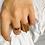 Thumbnail: bague ELLE chaines plaqué or