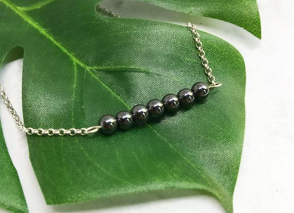 bracelet sterling silver hematite semi precious stone woman gift