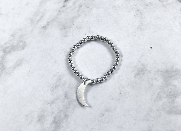 bague lune en argent 925 massif en perle et un pendant lune copine cadeaux noel st valentin