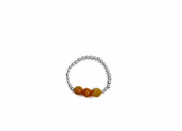 bague DRAGEE argent agate  orange