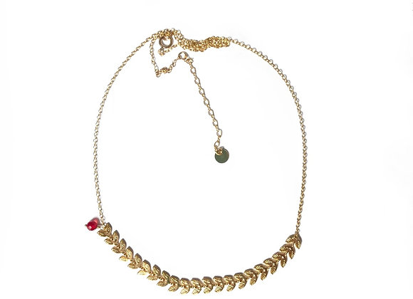 collier rouge grenat CATHERINE