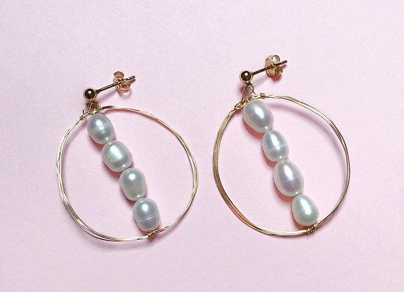 boucles d'oreilles ODETTE perle