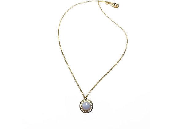 necklace LILI agate blue lace
