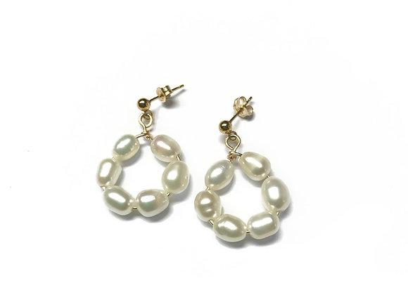 boucles d'oreilles perles de cultures FAY