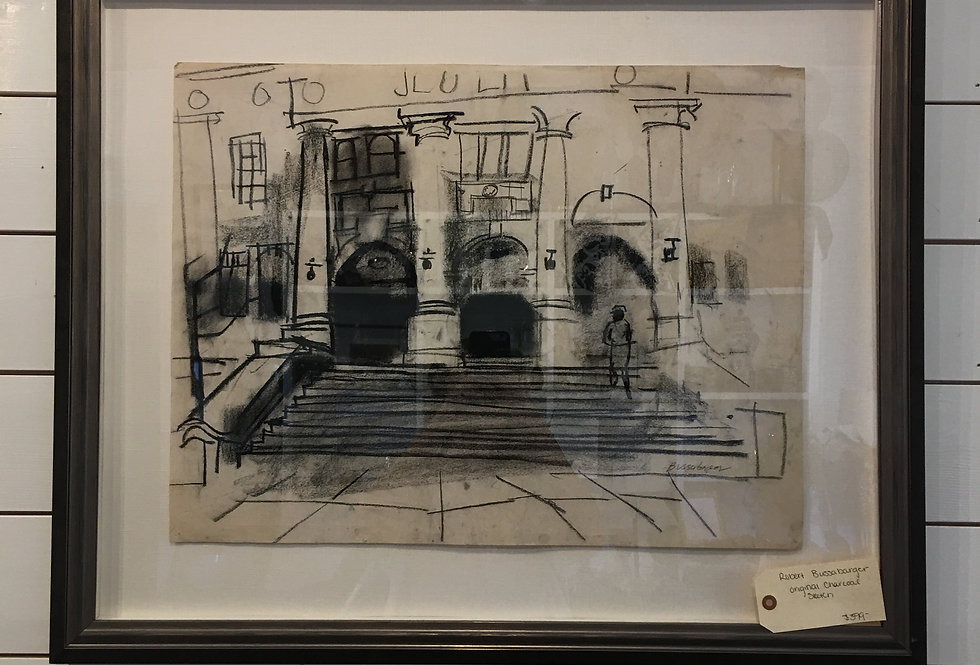 Robert Bussabarger Original Charcoal