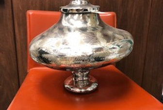 Mercury Glass Foliage Etched Jar