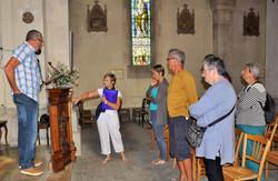 visite de l'intérieur de l'église