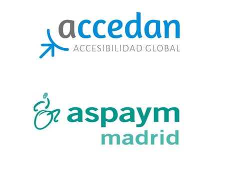 Accedan Accesibilidad, colaborador de  ASPAYM Madrid.